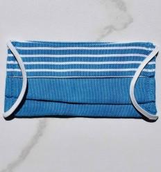 Mascarilla protectora para niños azul con rayas