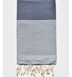 toalla de playa azul turquin