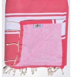 toalla de playa,duplicado esponja rosa fucsia y rosa claro