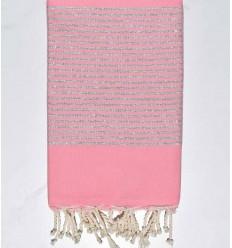 Toalla de playa Lurex rosa claro