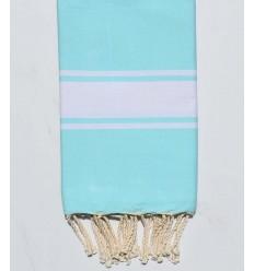 Toalla de playa plata azul turquesa