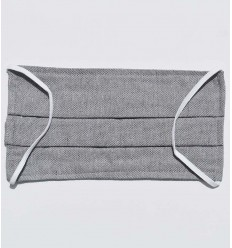Mascarilla protectora gris Plateado