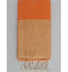 FOUTA Lurex tejido liso naranja