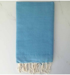 toalla de playa nido de abeja unido azul aciano