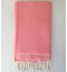 toalla de playa nido de abeja unido rosa claro