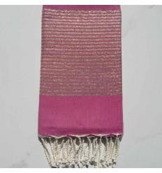 FOUTA Lurex tejido liso rosa oscuro