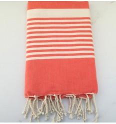 toalla de playa arturo rosa coral
