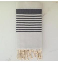 toalla de playa arturo gris claro y antracita