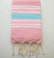 toalla de playa nido de abeja rosa chiaro