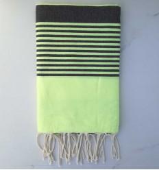 toalla de playa arturo fluo y antracita