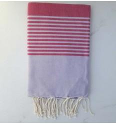 toalla de playa arturo malva y rosa