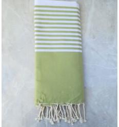 toalla de playa grande verde claro