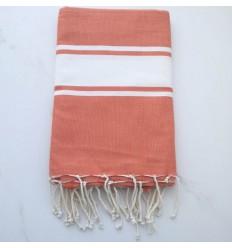 toalla de playa roja bismark tejida plana