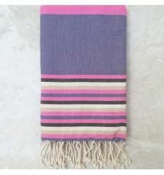 Toalla de playa 5 colores púrpura, rosa, beige, blanco cremoso y verde