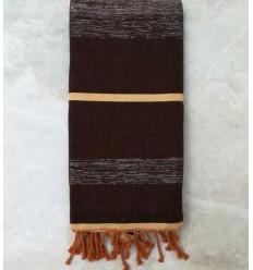 toalla de playa grande marrón con lurex