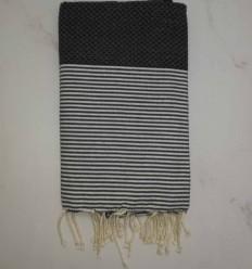 toalla de playa gris antracita
