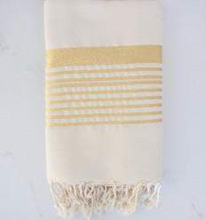 Grande fouta blanco cremoso con lurex