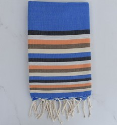Fouta plana 6 colores azul, antracita, gris claro, naranja, bistre claro y crema