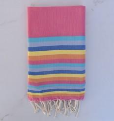 Toalla de playa 6 colores rosa, azul, azul gris, azul, amarillo y naranja