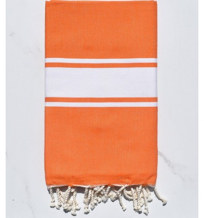 Toalla de playa naranja brillante