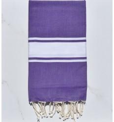Fouta plate violet améthyste