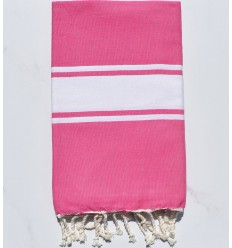 Toalla de playa Fouta chicle rosa