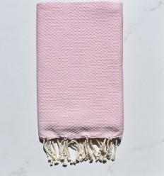 Fouta toalla de playa unido caramelo claro rosa