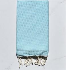Fouta toalla de playa unido agua azul clara