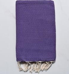 toalla de playa nido de abeja unido púrpura