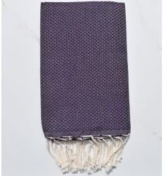 Fouta toalla de playa unido Violeta oscuro
