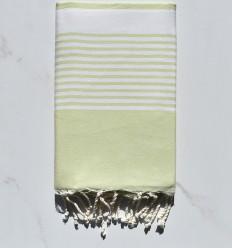 Fouta arthur verde pastel clair