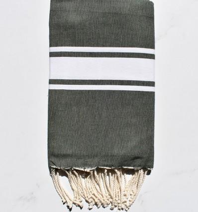 toalla de playa Verde oscuro tejido plato