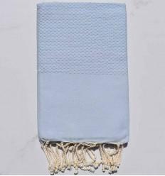 toalla de playa nido de abeja unido azul claro
