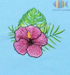 toalla de playa personalizada flores