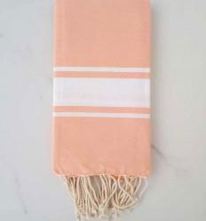 toalla de playa rosa capuchina