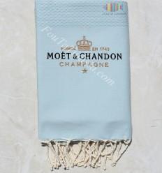 Toalla de playa con bordado Moët & Chandon Champagne