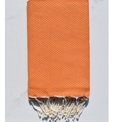 FOUTA nido de abeja sólida naranja