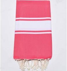 toalla de playa rosa fresa tejido plato