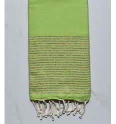 FOUTA Lurex tejido liso verde lima