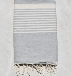 toalla de playa grande gris claro