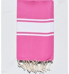 Fouta tejido liso rosa oscuro