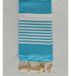 Fouta rayre rouge coraille