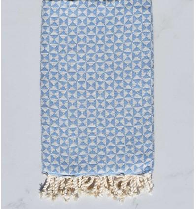 toalla de playa, mariposa azul, cielo