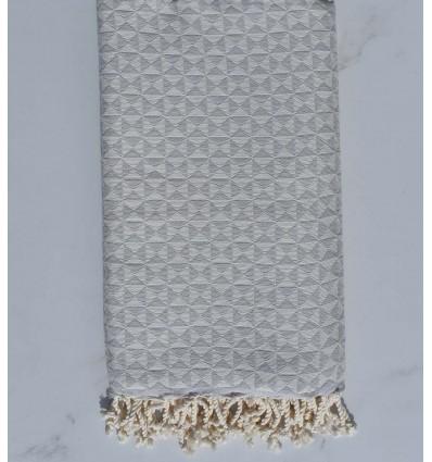 toalla de playa, mariposa gris, lino