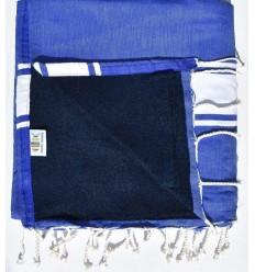 toalla de playa,duplicado esponja azul real y azul medianoche