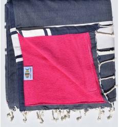 toalla de playa,duplicado esponja blue jeans Rosa fucsiat