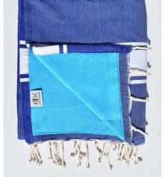 toalla de playa,duplicado esponja azul rey y azul celestial