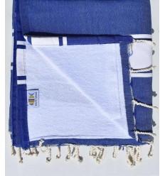 toalla de playa,duplicado esponja azul rey y blanco