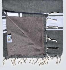 toalla de playa duplicado esponja gris pizarra y topo