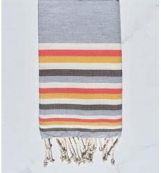 Toalla de playa plato gris, blanco, Blanca , acuarela rosa, amarillo y marrón